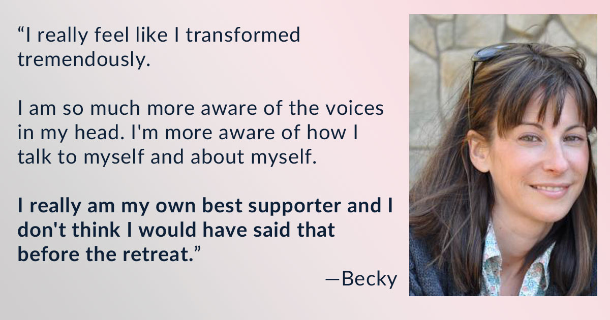 Becky's Testimonial for Heart-to-Heart: Compassionate Self-Mentoring